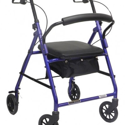 Economy Rollator with Loop Brakes and Pouch