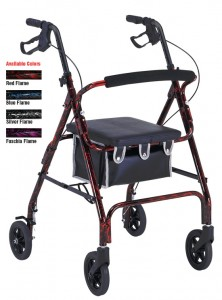 Medicare Rollator with Loop Brakes