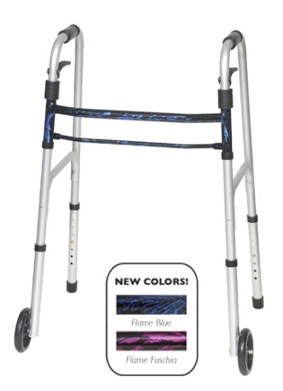"Sure Lever Release™ Folding Walker* w/5""Wheels"