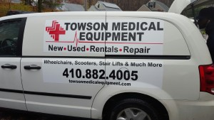 Towson Medical Equipment Repair Vans
