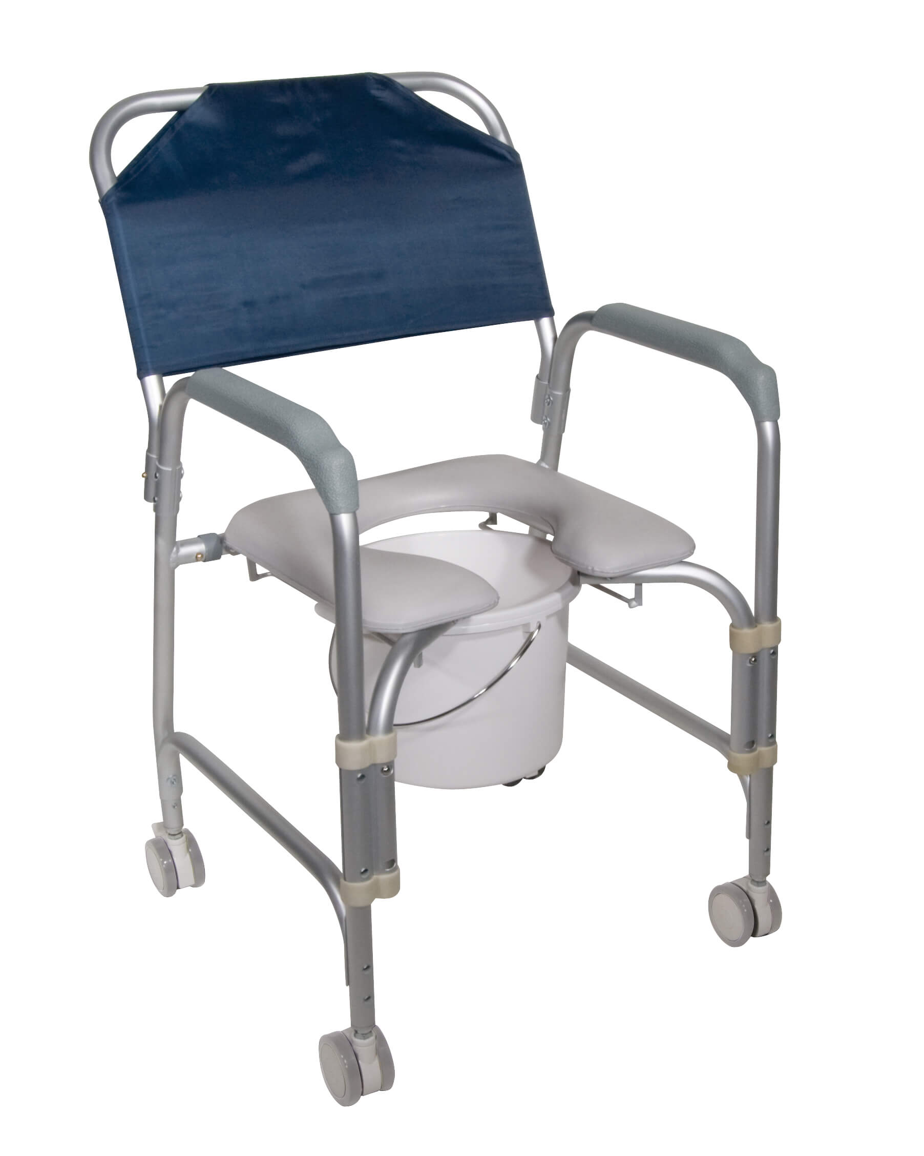 Lightweight portable shower chair commode with casters for Does medicare cover bathroom equipment
