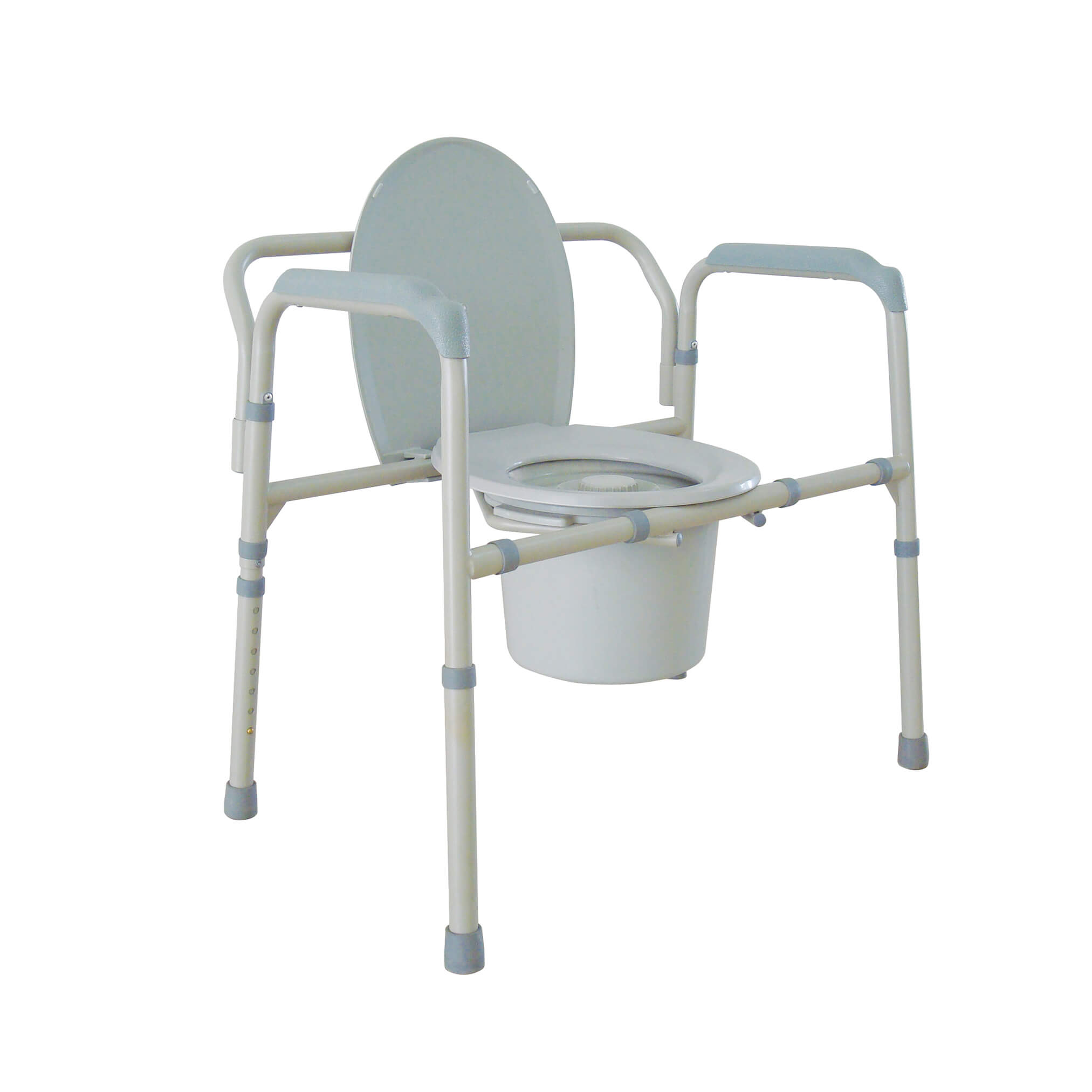 Heavy duty bariatric folding bedside commode seat for Does medicare cover bathroom equipment