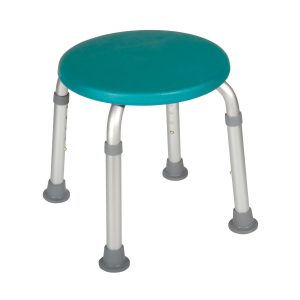 Adjustable Height Bath Stool, Teal
