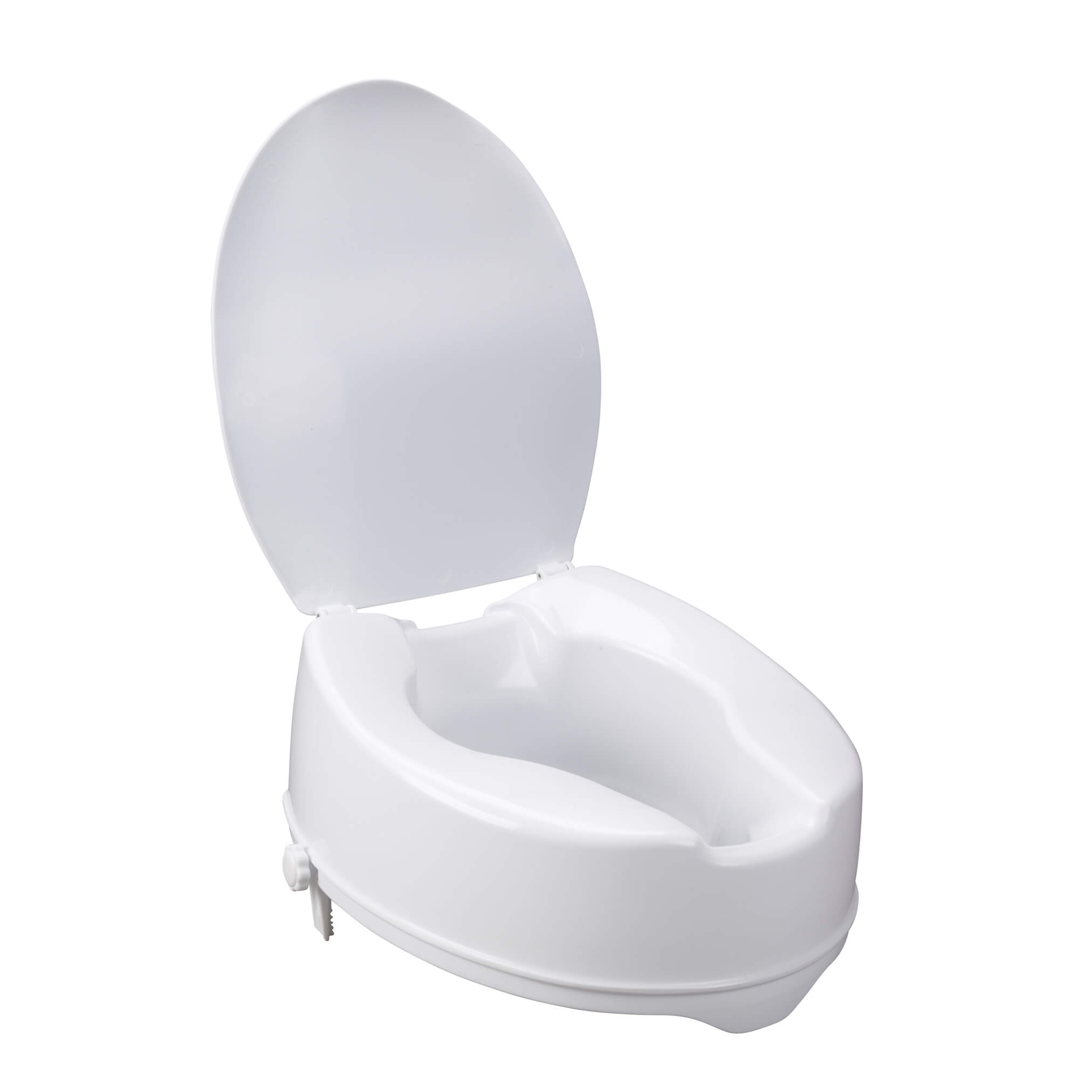 Raised Toilet Seat with Lock and Lid, 6\