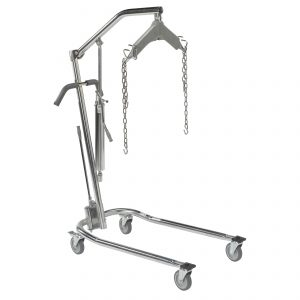 Hydraulic Patient Lift with Six Point Cradle, Chrome