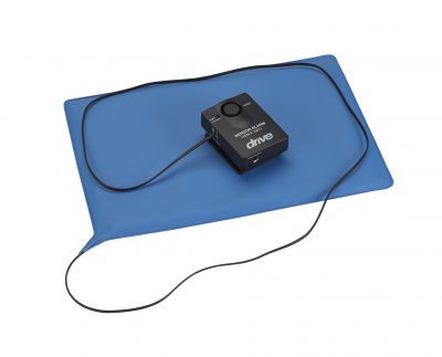 "Pressure Sensitive Bed Chair Patient Alarm with Reset Button, 10"" x 15"" Chair Pad"