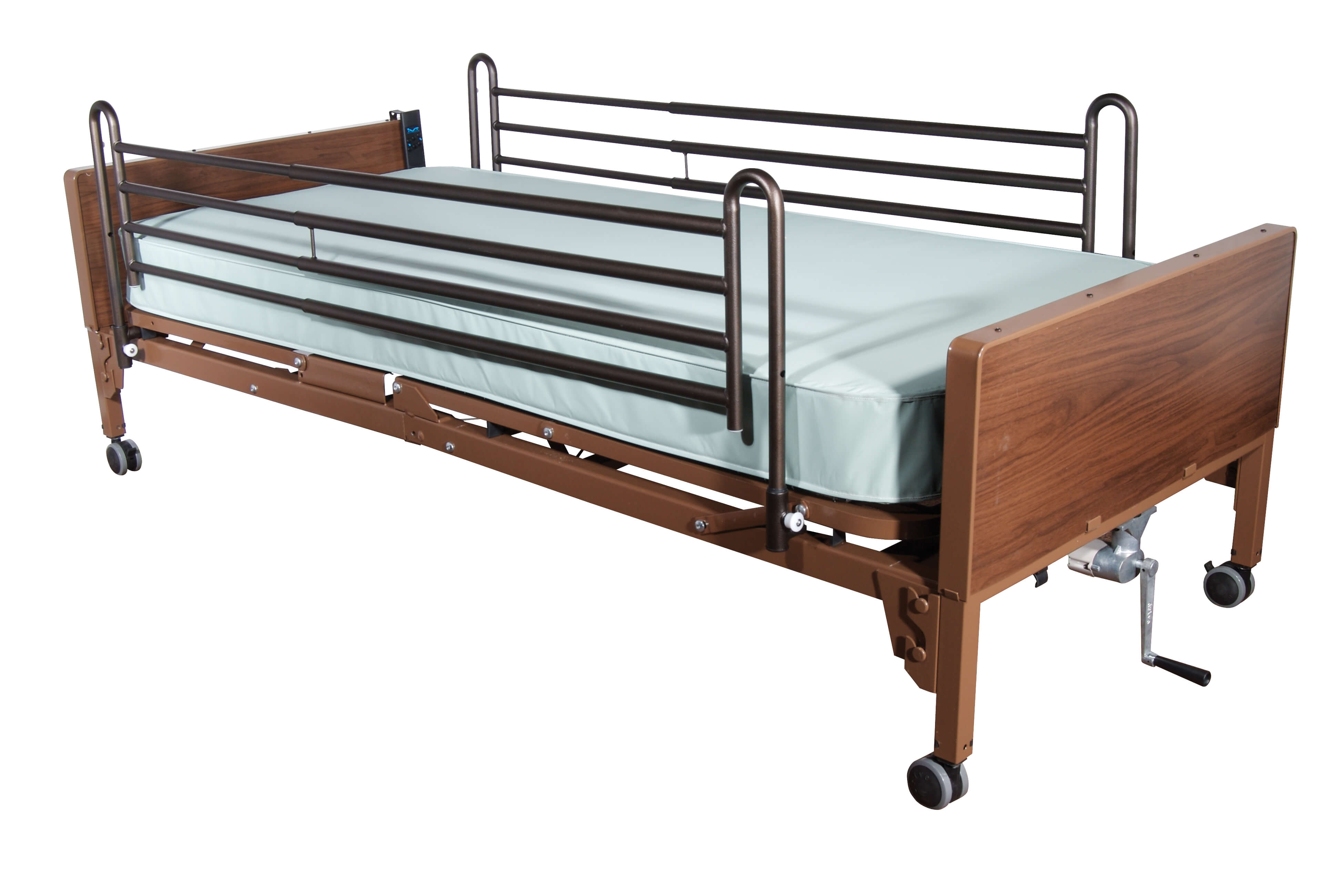 Semi Electric Bed with Full Rails and Foam Mattress