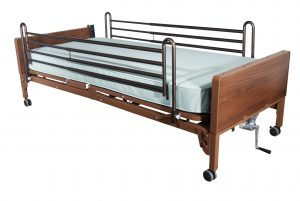 Medicare Fully Electric Hospital Bed with Full Rails and Innerspring Mattress
