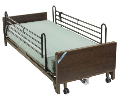 Delta Ultra Light Full Electric Low Bed with Full Rails and Foam Mattress