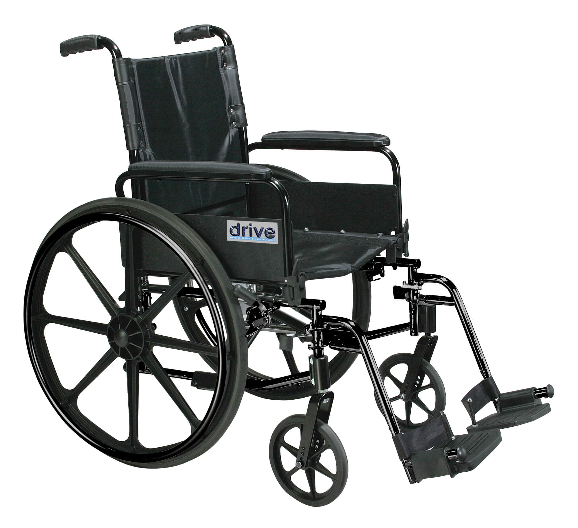 "Cirrus IV Lightweight Dual Axle Wheelchair with Adjustable Arms, Detachable Full Arms, Swing Away Footrests, 18"" Seat"