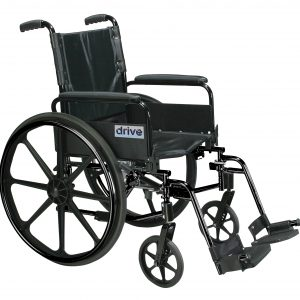 "Cirrus IV Lightweight Dual Axle Wheelchair with Adjustable Arms, Detachable Full Arms, Swing Away Footrests, 20"" Seat"