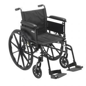 "Cruiser X4 Lightweight Dual Axle Wheelchair with Adjustable Detachable Arms, Full Arms, Swing Away Footrests, 18"" Seat"