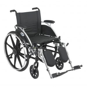 "Viper Wheelchair with Flip Back Removable Arms, Desk Arms, Elevating Leg Rests, 20"" Seat"
