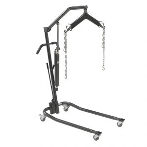 "Hydraulic Patient Medicare Hoyer Lift with Six Point Cradle, Silver Vein, 3"" Casters"