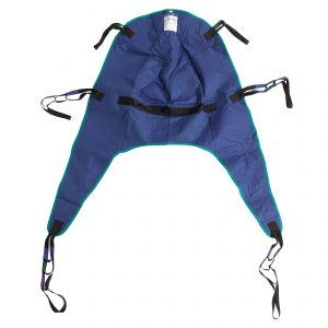 Divided Leg Patient Lift Sling with Headrest, Medium