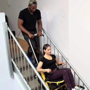 mobile stairlift in action